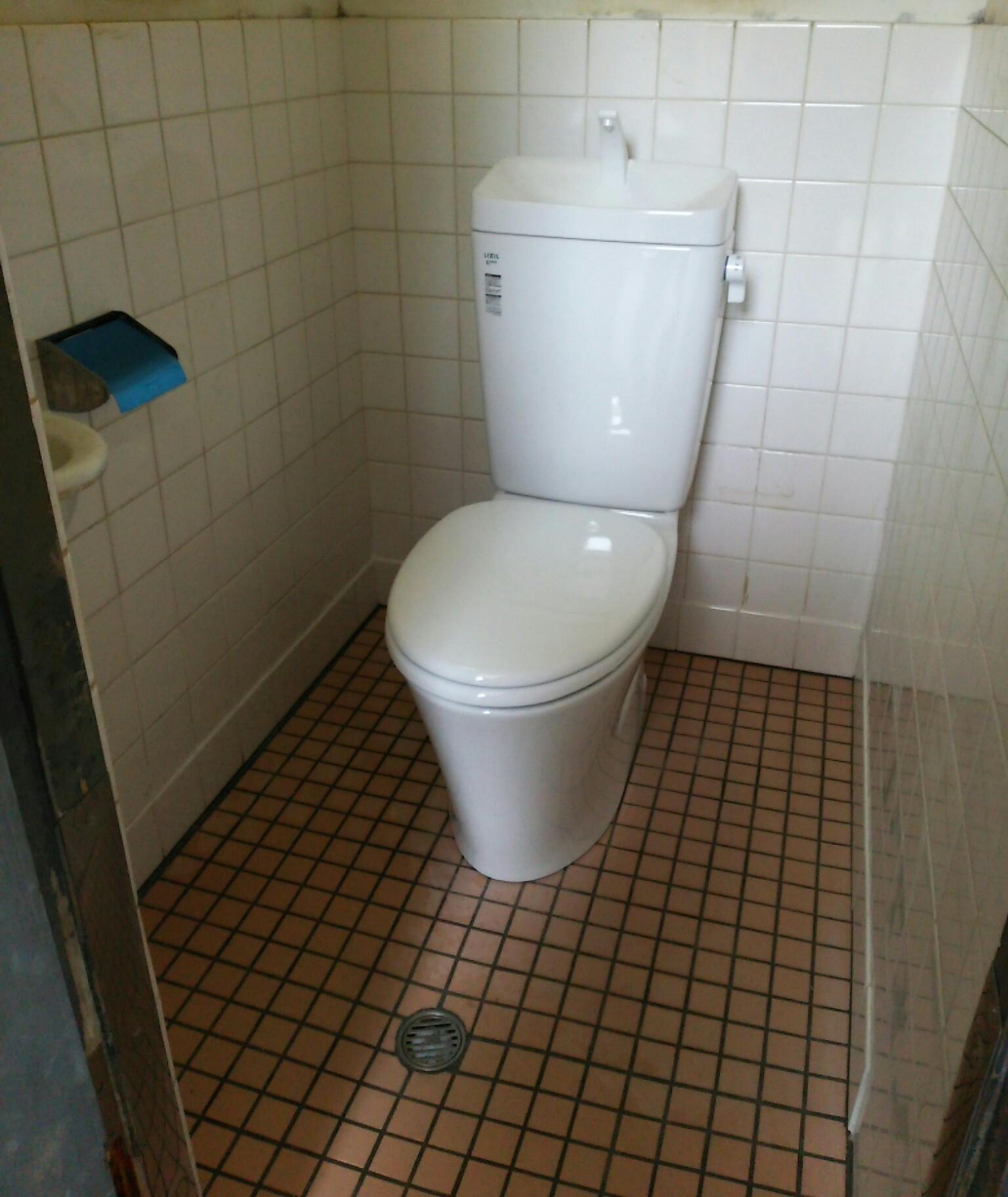 和式トイレから洋式トイレへリフォーム   カヤノキ建設